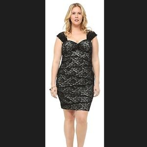 *NEW WITH TAG* Torrid Black Lace Dress